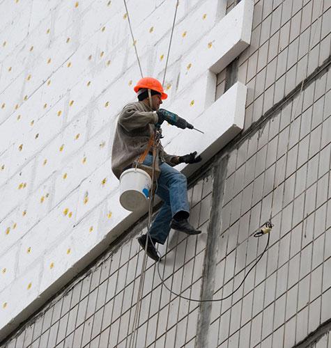 Утепление фасада многоквартирного дома в Краснодаре